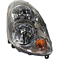 Sedan, Passenger Side Halogen Headlight, With bulb(s)