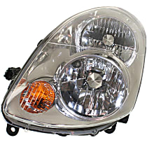 Sedan, Driver Side Halogen Headlight, With bulb(s)