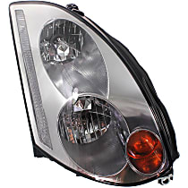 Passenger Side HID/Xenon Headlight, Without bulb(s) - Coupe