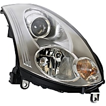 Passenger Side HID/Xenon Headlight, With bulb(s) - Coupe