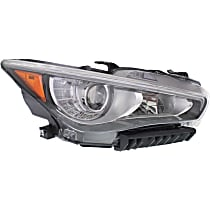 Passenger Side LED Headlight, With bulb(s) - Without Adaptive Frontlighting System