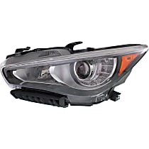 Driver Side LED Headlight, With bulb(s) - Without Adaptive Frontlighting System