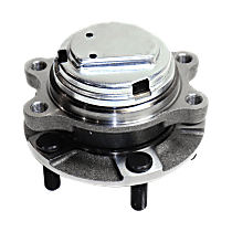 Front, Driver or Passenger Side Wheel Hub and Bearing Assembly, For RWD