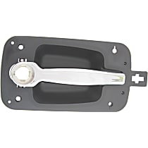 Front, Passenger Side Exterior Door Handle, Black bezel with chrome lever