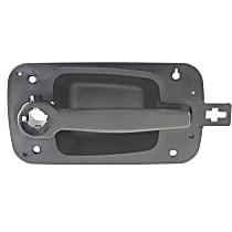 Front, Passenger Side Exterior Door Handle, Textured Black