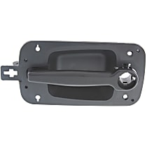 Front, Driver Side Exterior Door Handle, Textured Black