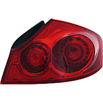 Sedan, Passenger Side Tail Light, With bulb(s)