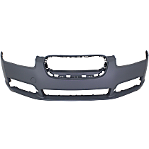 Front Bumper Cover, Primed - With Fog Light Holes, Without Parking Aid Sensor Holes