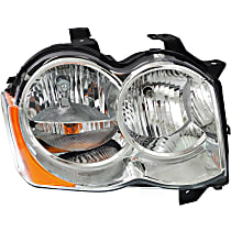 Passenger Side Halogen Headlight, With bulb(s) - 08-10 Grand Cherokee (Laredo/Limited/North Edition Model)