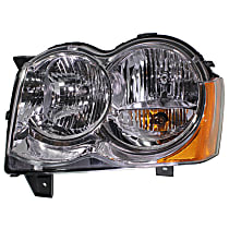 Driver Side Halogen Headlight, With bulb(s) - 08-10 Grand Cherokee (Laredo/Limited/North Edition Model)
