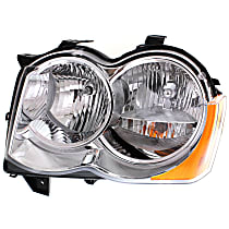 Headlight - Driver Side, Halogen, Chrome Trim, With Bulb(s), CAPA Certified