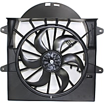 Radiator Fan - Fits 3.7L/4.7L, Includes Fan Shroud