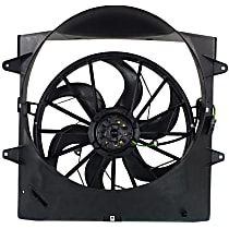 OE Replacement Radiator Fan - Fits 4.0L/4.7L, w/o Tow Pckg., Includes Fan Shroud