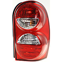 Passenger Side Tail Light, With bulb(s) - w/o Tail Lamp Guard, 2005-2007 Jeep Liberty, Exc. Renegade Model