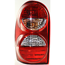 Driver Side Tail Light, With bulb(s) - w/o Tail Lamp Guard, 2005-2007 Jeep Liberty, Exc. Renegade Model