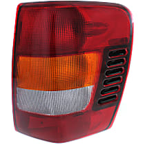 Passenger Side Tail Light, With bulb(s) - Amber, Clear & Red Lens, From 11-01