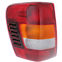 Driver Side Tail Light, With bulb(s) - Amber, Clear & Red Lens, From 11-01