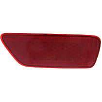 Rear, Passenger Side Bumper Reflector