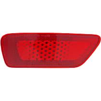 CAPA Certified Rear, Driver Side Bumper Reflector