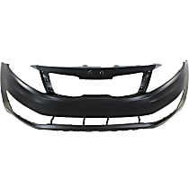 Front Bumper Cover, Primed - Fits: 2012-2013 Kia Optima - EX / LX Models - USA Built - (Excluding: Hybrid Models), CAPA CERTIFIED