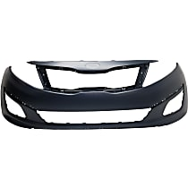 Front Bumper Cover, Primed - Except Hybrid Model, USA Built, CAPA CERTIFIED