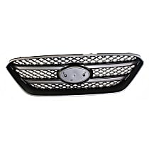 Grille Assembly - Painted Black Shell and Insert, without Chrome Molding