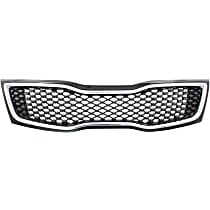 Grille Assembly - Black Shell and Insert, USA Built Vehicle, Except LX/Hybrid LX Models, CAPA Certified