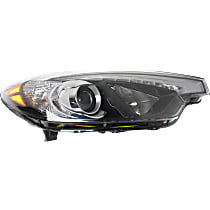 Passenger Side Halogen Headlight, With bulb(s) - To 10-17-14, CAPA CERTIFIED