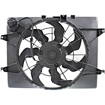OE Replacement Radiator Fan - Included Resistor 2.4L, Excludes Hybrid