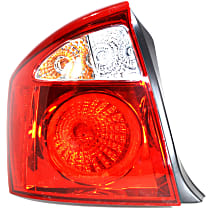 Driver Side Tail Light, With bulb(s) - 2004-2006 Kia Spectra, Sedan, w/ Vehicle Prod. Date: From 12/01/2003 Up to 9/01/2006