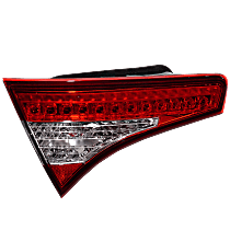 Driver Side, Inner Tail Light, With bulb(s) - Clear & Red Lens, Exc. Hybrid Model