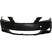 Front Bumper Cover, Primed - w/ Pre-Collision System, w/o HL Washer Holes, w/ Parking Aid Snsr and FL Holes