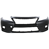 Front Bumper Cover, Primed - w/o Parking Aid Snsr Holes, w/ FL Holes, CAPA CERTIFIED