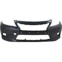 Front Bumper Cover, Primed - w/ Parking Aid Snsr Holes, w/ FL Holes, CAPA CERTIFIED