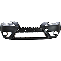 Front Bumper Cover, Primed - Exc F Sport Pkg, Exc. C Model, w/ HL Washer Holes, w/o Parking Aid Snsr Holes, w/ FL Holes