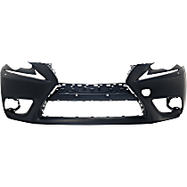 Front Bumper Cover, Primed - Exc F Sport Pkg, Exc. C Model, w/ HL Washer Holes, w/o Parking Aid Snsr Holes, w/ FL Holes, CAPA CERTIFIED