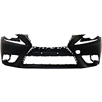 Front Bumper Cover, Primed - Exc F Sport Pkg, Exc. C Model, w/o HL Washer Holes, w/o Parking Aid Snsr Holes, w/ FL Holes, CAPA CERTIFIED