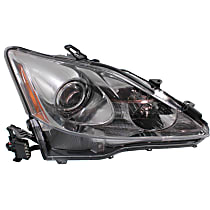 Passenger Side Halogen Headlight, Without bulb(s) - Models Without Auto-Leveling