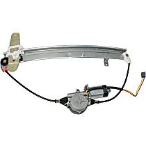 Rear, Driver Side Power Window Regulator, With Motor - Sedan