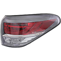 Passenger Side, Outer Tail Light, Without bulb(s) - Clear & Red Lens, Japan Built