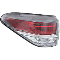 Driver Side, Outer Tail Light, Without bulb(s) - Clear & Red Lens, Japan Built