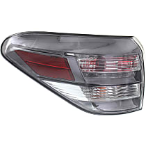 Driver Side, Outer Tail Light, With bulb(s) - Clear & Red Lens, Canada Built