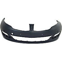 CAPA Certified Front Bumper Cover, Primed - w/ Signature Lightning, w/ Tow Hook Holes, w/o Parking Aid Snsr Holes