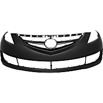 Front Bumper Cover, Primed - w/o Parking Aid Snsr Holes, w/ FL, Emblem Provision, Side Marker and Molding Holes