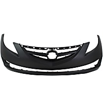 Front Bumper Cover, Primed - w/o Parking Aid Snsr Holes, w/ FL, Emblem Provision, Side Marker and Molding Holes, CAPA CERTIFIED