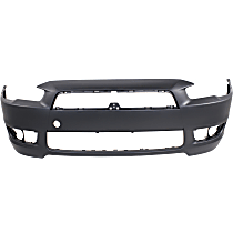 Front Bumper Cover, Primed - w/o Air Dam Holes & Chrome Grille, Standard Type, Except Evolution Model