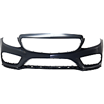 Front Bumper Cover, Primed, Convertible/Coupe/Sedan - w/o Park Sensor Holes & Surround View, w/ Sport Pkg., Except C63 Model