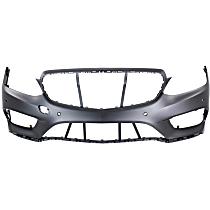 Front Bumper Cover, Primed, Sedan/Wagon - w/ Park Sensor Holes & AMG Styling Pkg., CAPA CERTIFIED