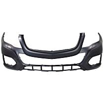 Front Bumper Cover, Primed - w/o Park Sensor Holes, w/ Headlight Washer Holes, w/o Sport Pkg.