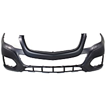 Front Bumper Cover, Primed - w/o Park Sensor Holes, w/ Headlight Washer Holes, w/o AMG Styling Pkg.